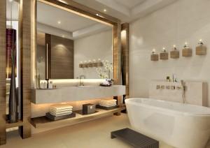 j w marriott marquis int-typical bathroom (c)emirates airline